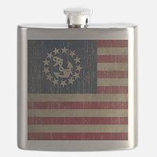 Vintage America Yacht Flag Flask
