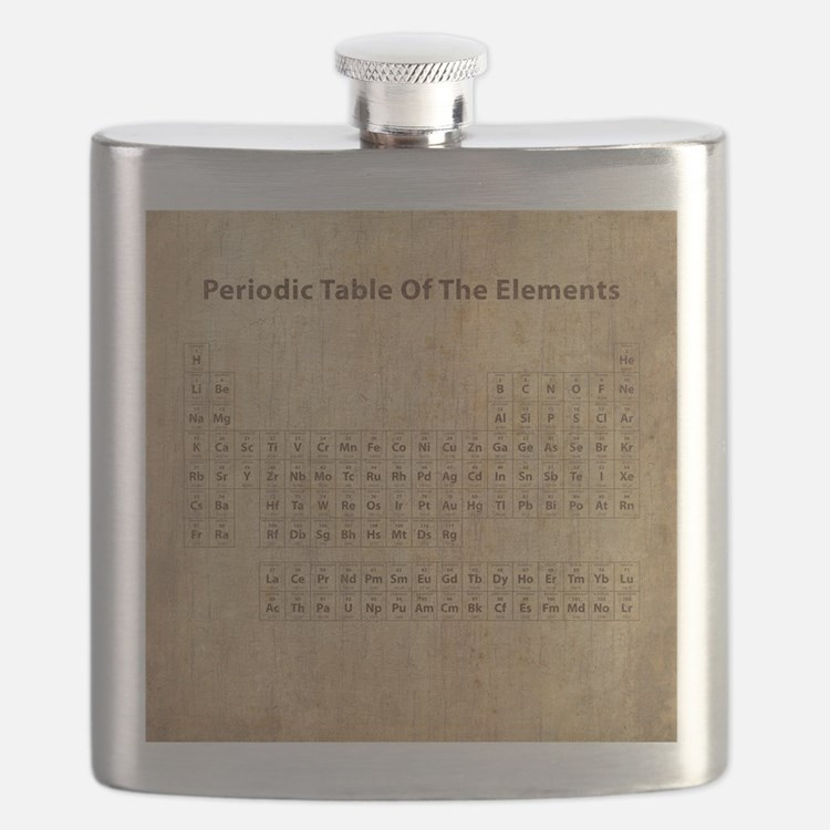 Vintage Periodic Table Flask