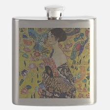 Gustav Klimt Lady With Fan Flask