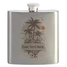 Funny Beach Flask