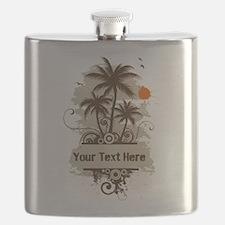 Unique Hawaii sunset Flask