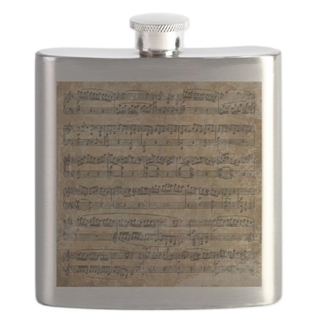 Vintage Sheet Music Flask