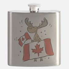 Canada Day Moose Flask