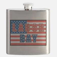USA Labor Day Flask