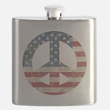 Vintage Peace In America Flask