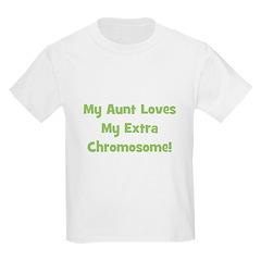 My Aunt Loves My Extra Chromo Kids T-Shirt