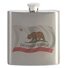 Wavy California Flag Flask