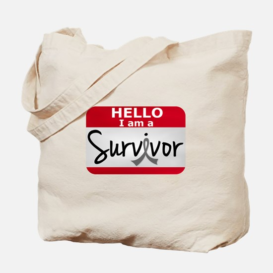 Brain Tumor Survivor 24 Tote Bag