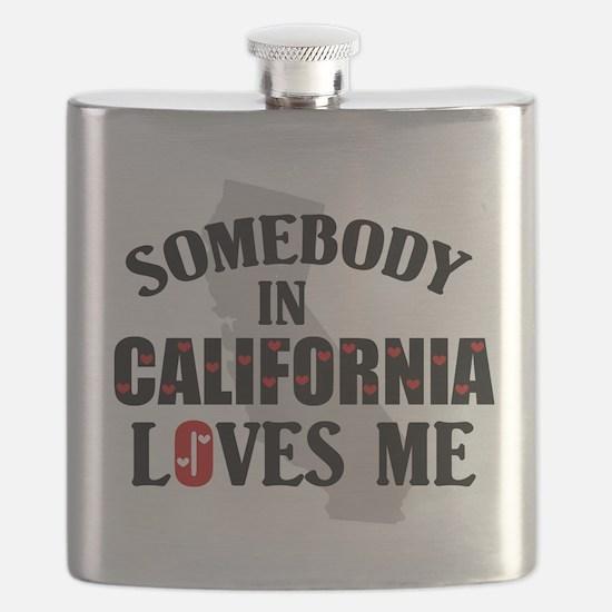 Somebody In California Flask