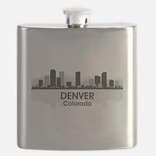 Denver Skyline Flask