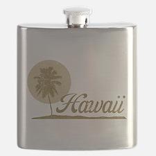 Palm Tree Hawaii Flask