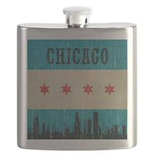 Vintage Chicago Skyline Flask