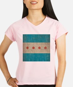 Vintage Chicago Flag Performance Dry T-Shirt