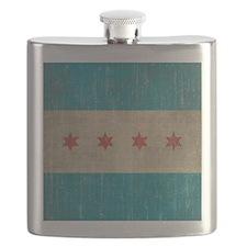 Vintage Chicago Flag Flask