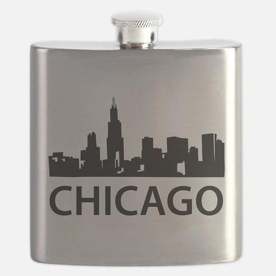 Chicago Skyline Flask