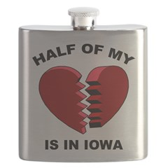 Heart In Iowa Flask