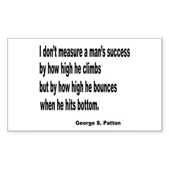 Patton's Measure of Success Rectangle Decal