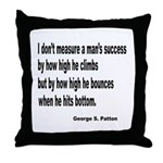 Patton's Measure of Success Throw Pillow