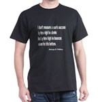 Patton's Measure of Success (Front) Black T-Shirt
