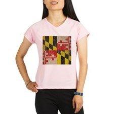 Vintage Maryland Flag Performance Dry T-Shirt