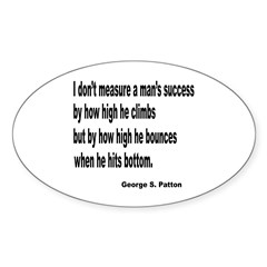 Patton's Measure of Success Oval Decal