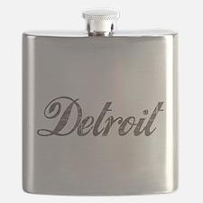 Vintage Detroit Flask