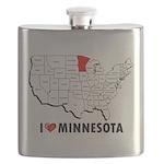 I Love Minnesota Flask