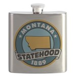 Montana Statehood Flask
