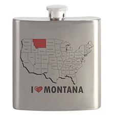 I Love Montana Flask