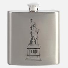 Hand Drawn Statue Of Liberty Flask