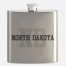 ND North Dakota Flask