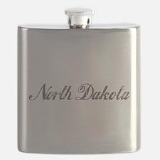 Vintage North Dakota Flask