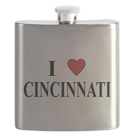 I Love Cincinnati Flask