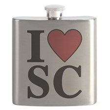 I Love South Carolina Flask