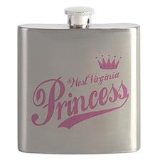 West Virginia Princess Flask
