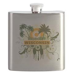 Palm Tree Wisconsin Flask