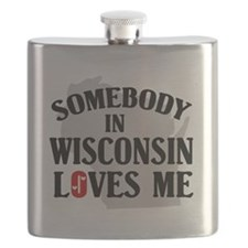 Somebody In Wisconsin Flask