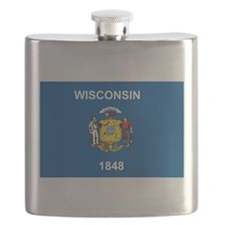 Wisconsin Flag Flask