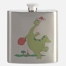 Christmas Dinosaur Flask