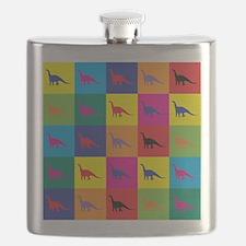 Pop Art Dinosaur Flask