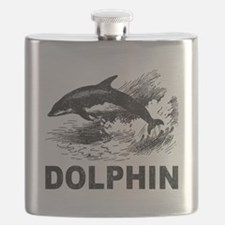 Vintage Dolphin Flask