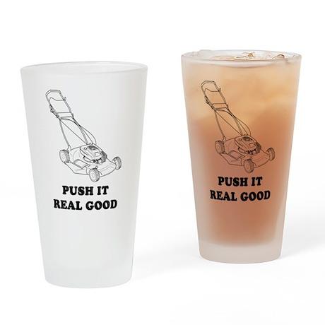Push It Drinking Glass