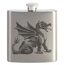 Hand Drawn Dragon Flask
