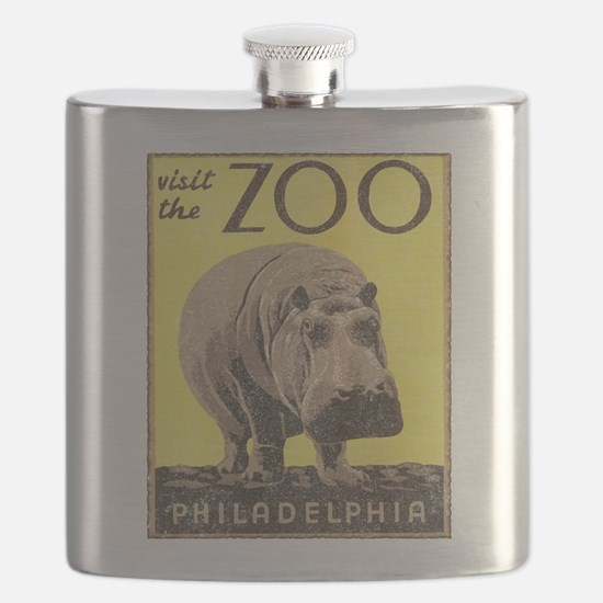 Vintage Philadelphia Zoo Flask