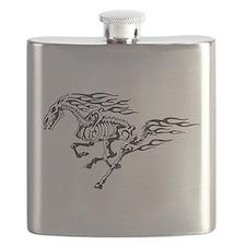 Skeleton Horse Flask
