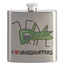 I Love Grasshoppers Flask