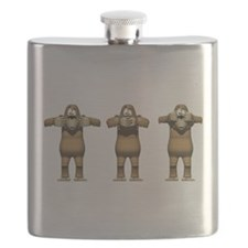 See No Evil Monkey Flask