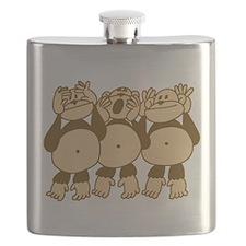 See No Evil Monkeys Flask