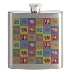 Pop Art Panda Flask