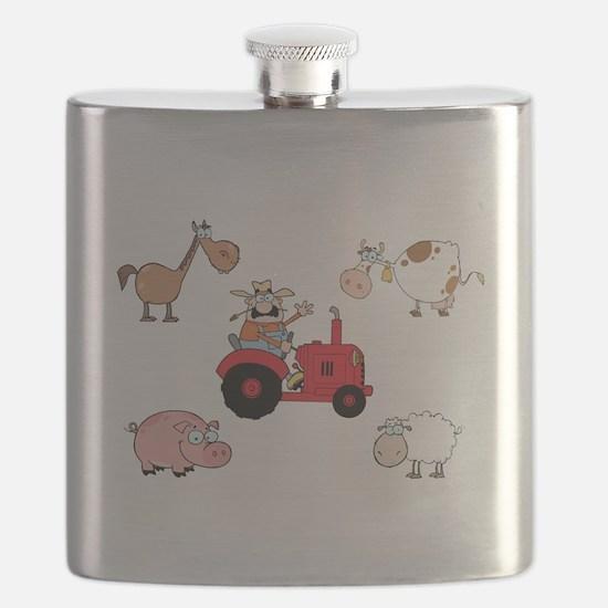 Cute Farm Animals Flask